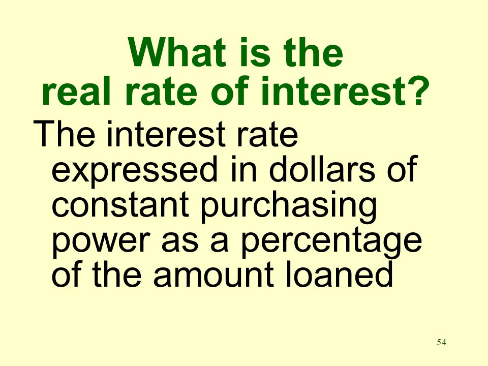 53 What is the nominal rate of interest.