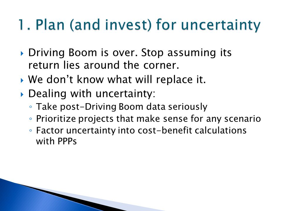  Driving Boom is over. Stop assuming its return lies around the corner.