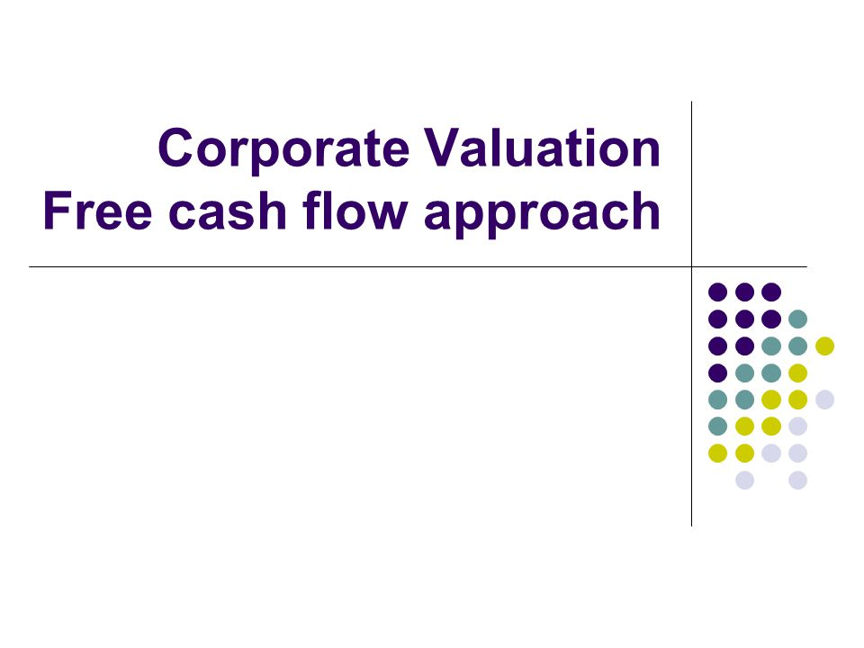 1996 Free Cash Flow to the Firm FCFF= EBIT (1 - tax rate) – (Capital Expenditures - Depreciation) – Change in Non-cash Working Capital =$5,559 (1-36%) – ($1,746-$1,134) –$617 =$2,329
