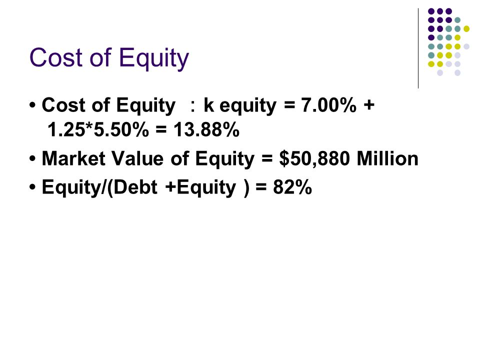 Reducing the cost of financing Changing the financial mix of debt and equity can increase value.