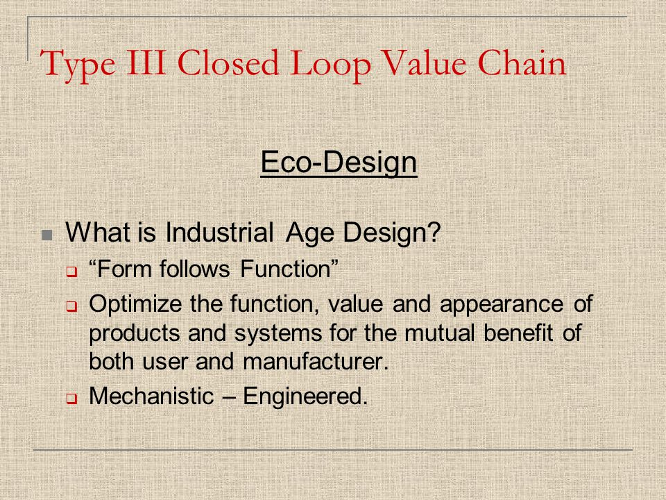 What is Industrial Age Design.