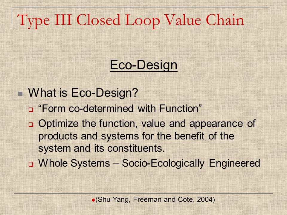 What is Eco-Design.
