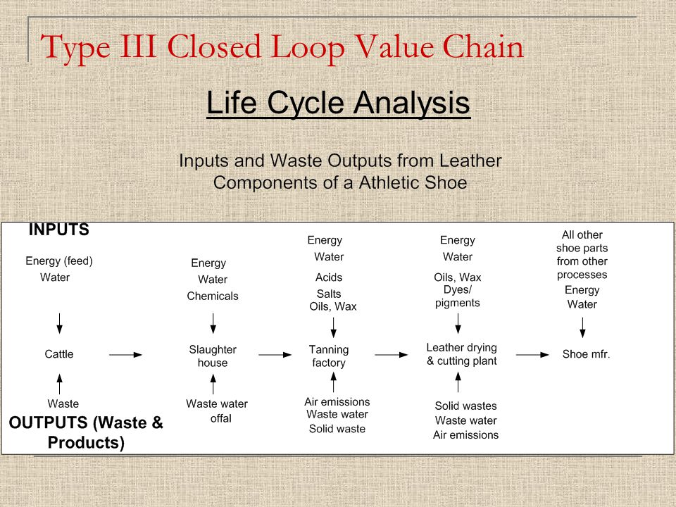 Type III Closed Loop Value Chain Life Cycle Analysis