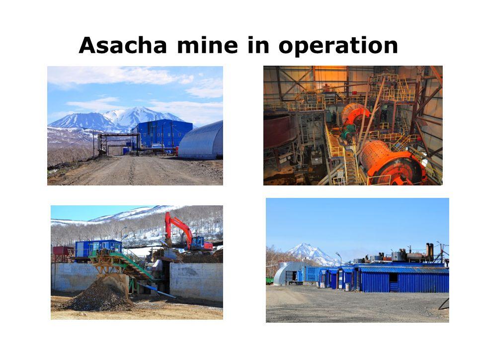 Asacha mine in operation