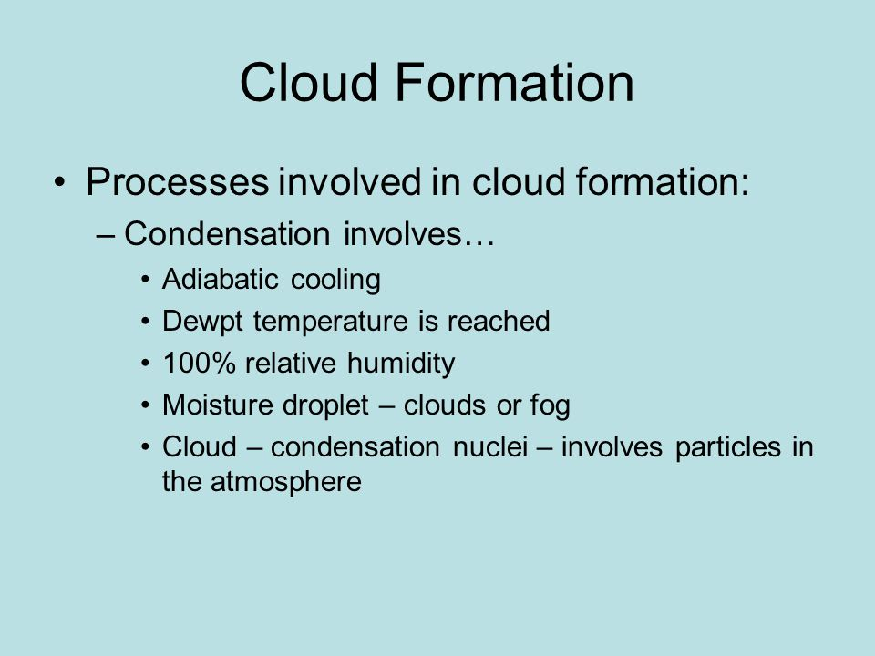 Stationary Front An almost motionless collision of air masses Common in summer Produces wide range of weather, depending on strength of air masses Eventually dissipates, or becomes warm or cold front