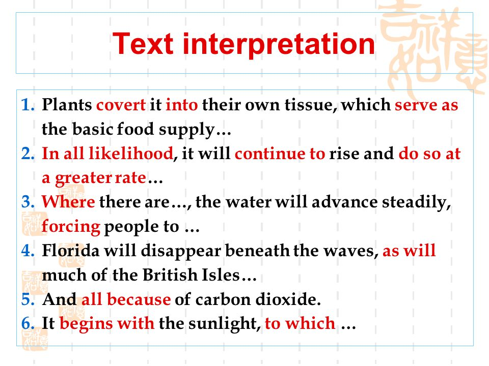 Text interpretation 1. Ill air slays sooner than the sword. 污浊的空气杀人比刀还要快。 2. Exercise, temperance, fresh air, and needful rest are the best of all phy