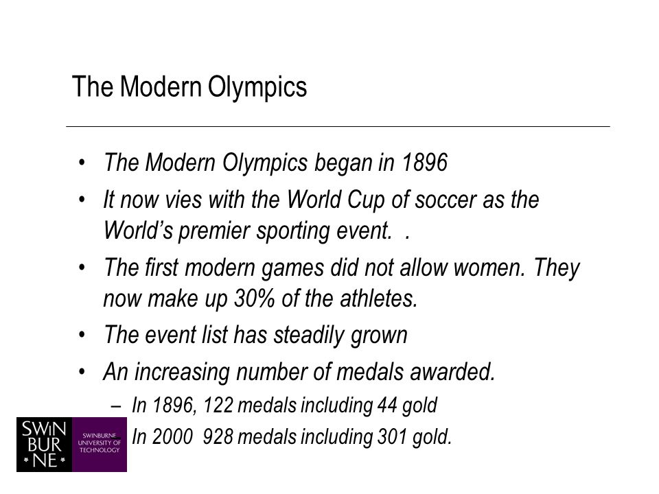 Venues for the Modern Olympic Games.