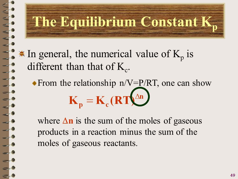 50 A Problem To Consider Consider the reaction The K c for the reaction is 2.8 x 10 2 at 1000 K.
