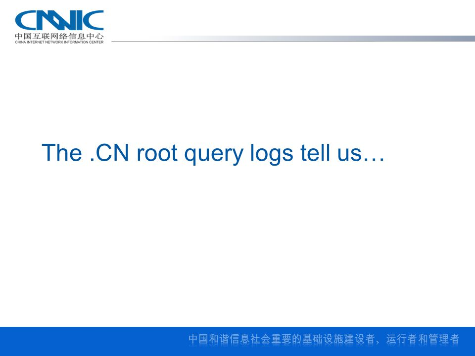 The.CN root query logs tell us…