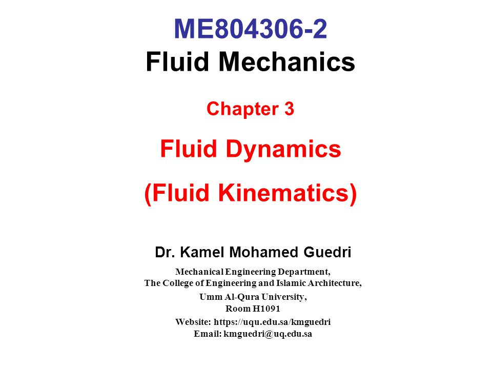 82 Summary (cont) Chapter 3 emphasized basically on the application of Bernoulli equation in order to solve problems related to fluid mechanics and the application of momentum equation to solve type of flows problem.