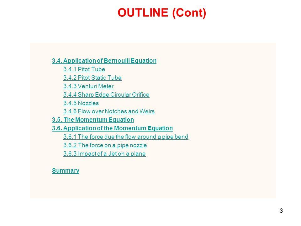 24 3.3 The Fundamental Equations of Fluid Dynamics 1.