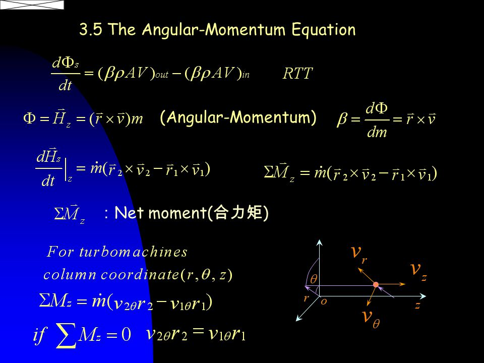 3.5 The Angular-Momentum Equation (Angular-Momentum) : Net moment( 合力矩 )