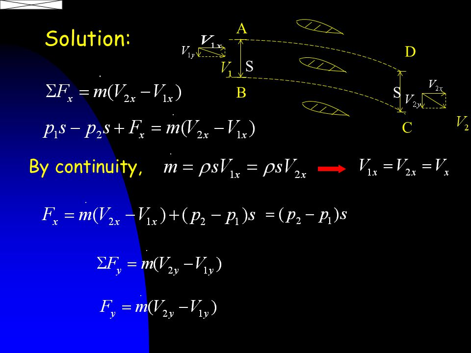 Solution: A B D C S S By continuity,