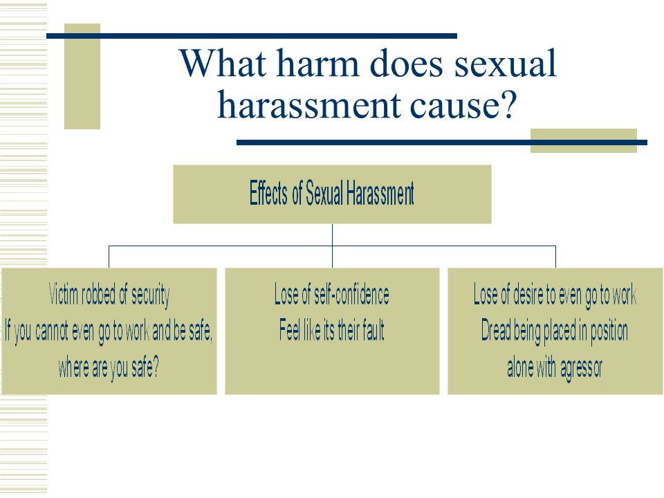 What harm does sexual harassment cause