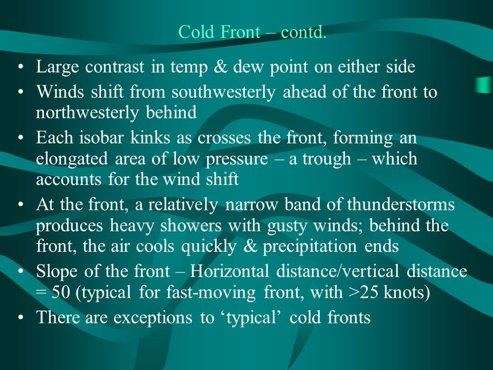 Cold Front – contd.