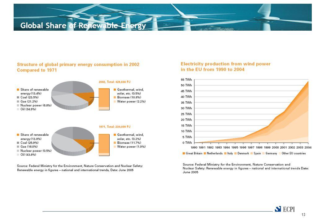 13 Global Share of Renewable Energy