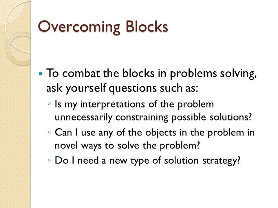 Solution Strategies Algorithm Heuristic