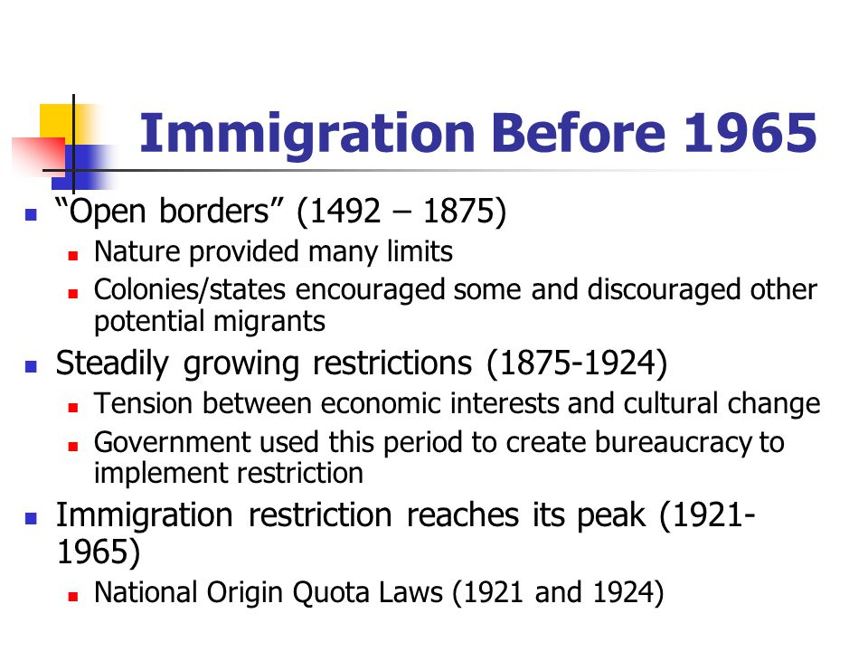 immigration restriction law of 1924 essay Immigration term papers on immigration act of 1924 during this time period it was rough going if you were an immigrant because of all the restrictions.