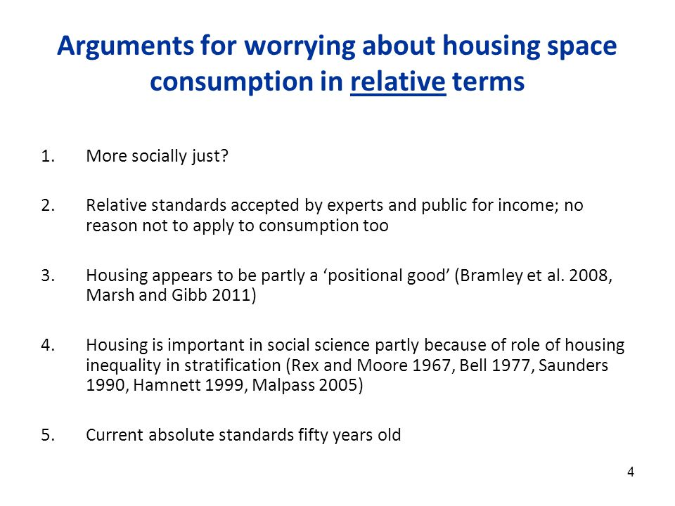 15 (3) Housing space inequality shows similar trends to income inequality 90:10 and 50:10 ratios