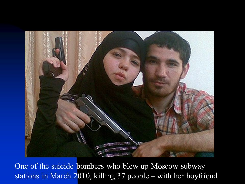 One of the suicide bombers who blew up Moscow subway stations in March 2010, killing 37 people – with her boyfriend