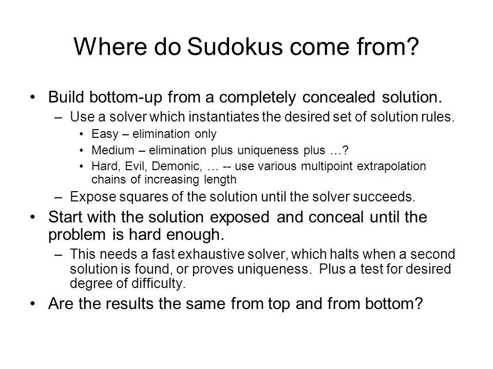 Why study Sudoku.