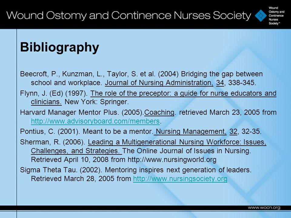 Bibliography Beecroft, P., Kunzman, L., Taylor, S.