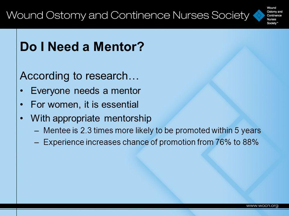 Do I Need a Mentor.