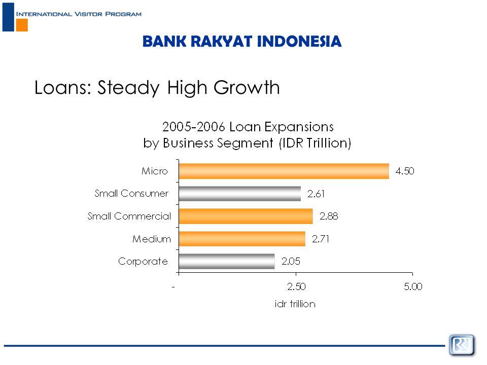 BANK RAKYAT INDONESIA Loans: Steady High Growth
