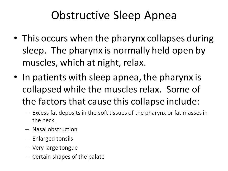 Symptoms of Obstructive Sleep Apnea Loud snoring and labored breathing that often progressively worsens.