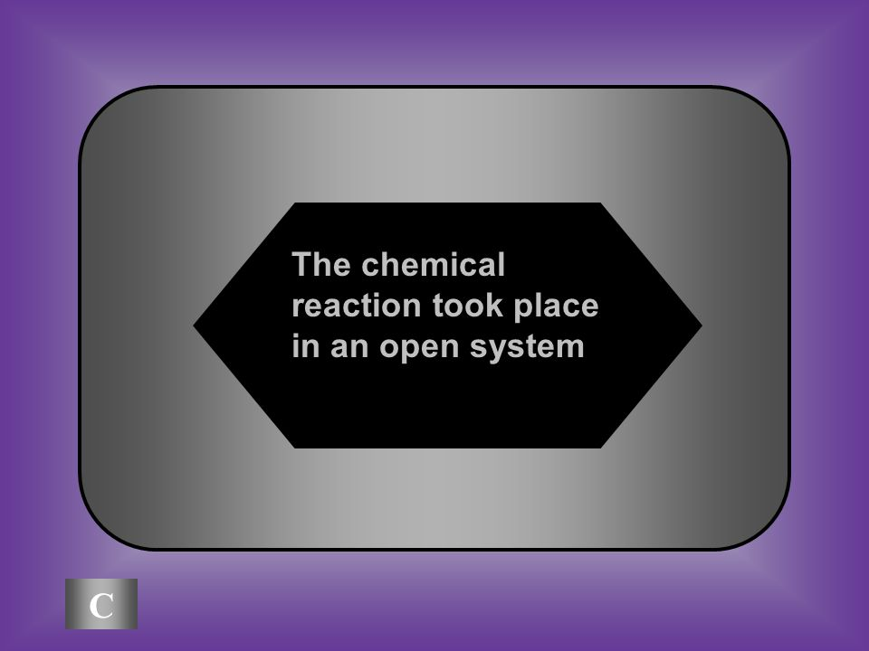 A:B: The chemical reaction created matter The chemical reaction destroyed matter A piece of paper was burned and became a pile of ashes.