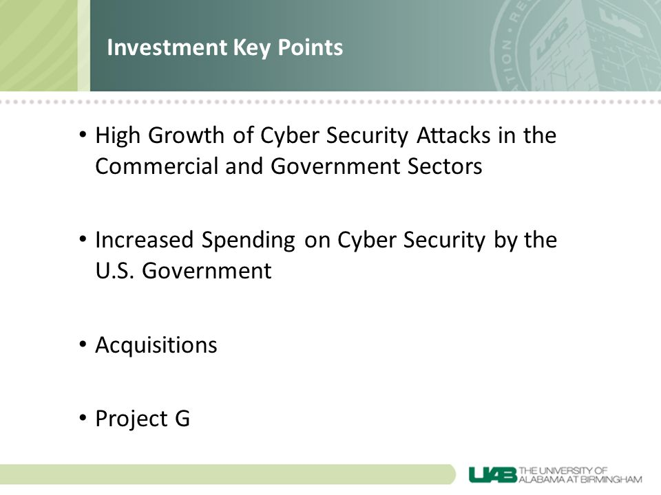 High Growth of Cyber Security Attacks in the Commercial and Government Sectors Increased Spending on Cyber Security by the U.S.