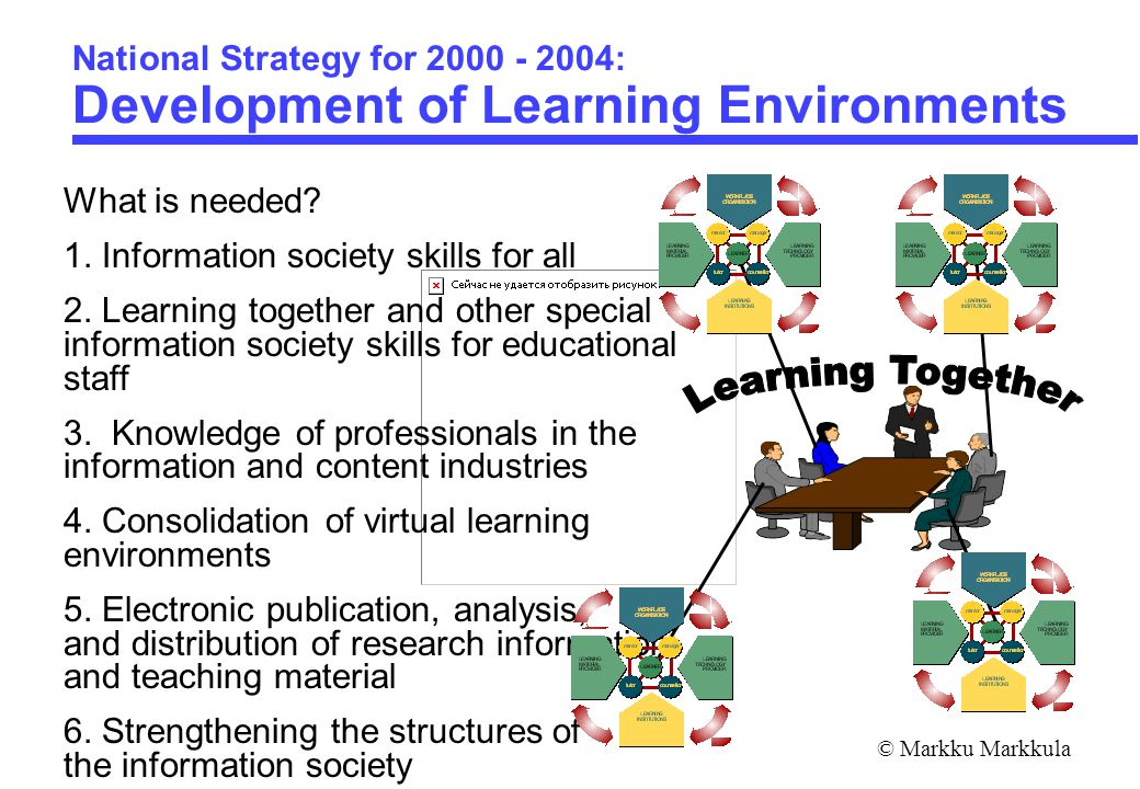 © Markku Markkula National Strategy for 2000 - 2004: Development of Learning Environments What is needed.