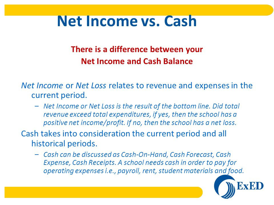 Net Income vs.