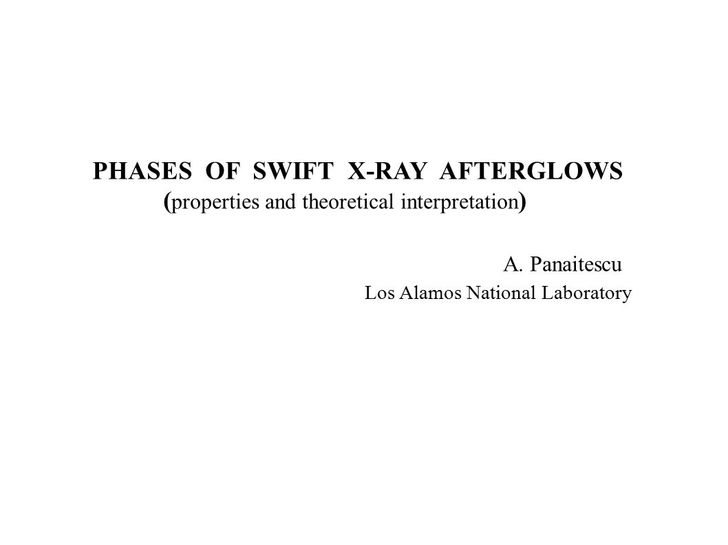 Four Afterglow Phases I II III IV