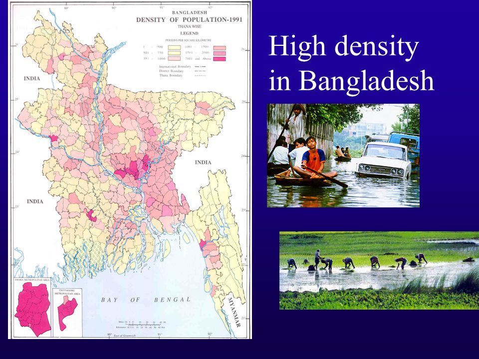 High density in Bangladesh