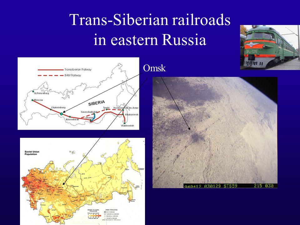 Trans-Siberian railroads in eastern Russia Omsk