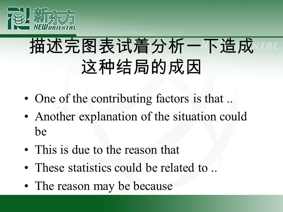描述完图表试着分析一下造成 这种结局的成因 One of the contributing factors is that..