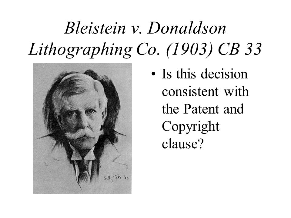 Bleistein v. Donaldson Lithographing Co.