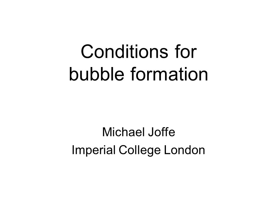 The importance of bubbles increasing study of bubbles in recent years – not least because of the perception that the financial crash of 2007-2009 involved one or more of them several bubbles in recent decades; some observers believe that their frequency and/or severity may be increasing they tend to occur in stock markets (e.g.