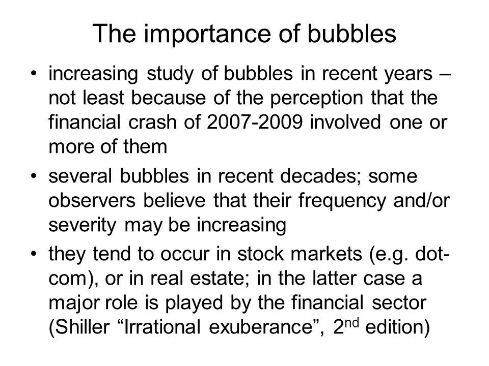 Bubbles: symmetric or asymmetric.