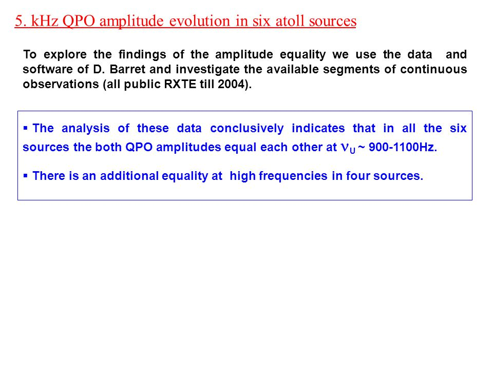 To explore the findings of the amplitude equality we use the data and software of D.