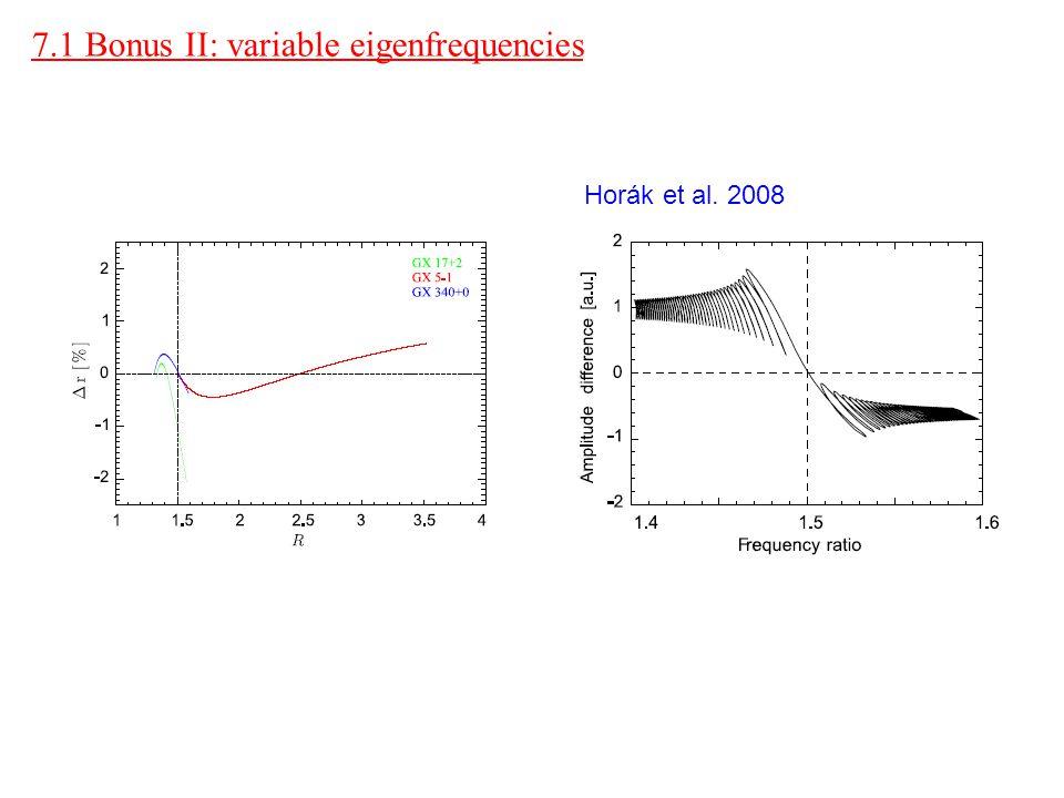 7.1 Bonus II: variable eigenfrequencies Horák et al. 2008