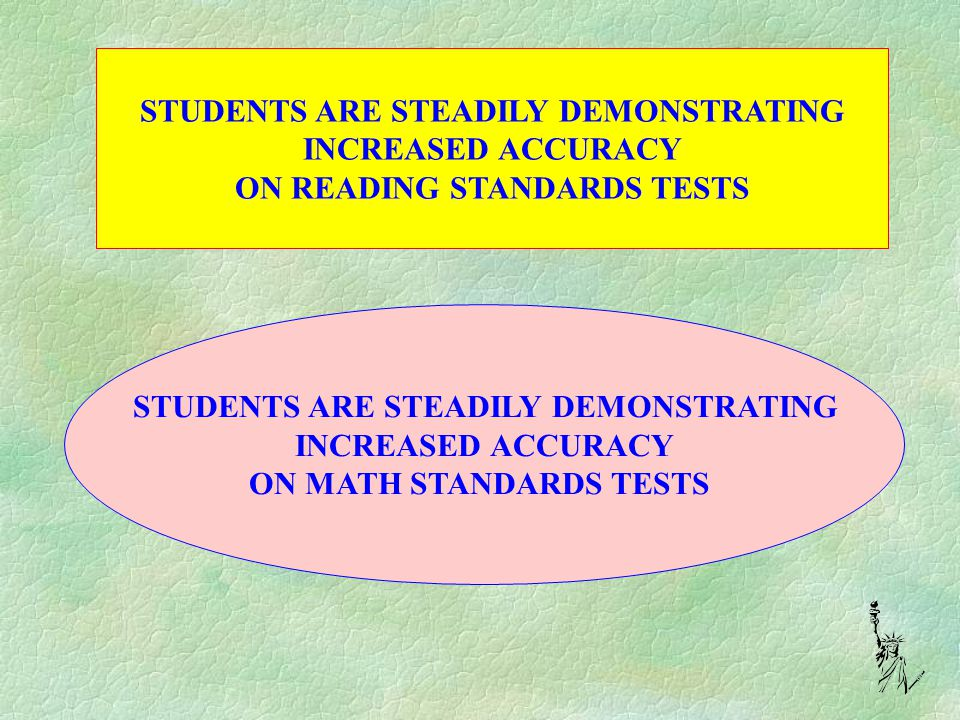 IMPROVEMENTS IN STUDENT ACHIEVEMENT DO NOT OCCUR WITHOUT THE CONCERTED EFFORT OF CLASSROOM TEACHERS WITH THE SUPPORT OF CLASSIFIED EMPLOYEES AND ADMINISTRATION.