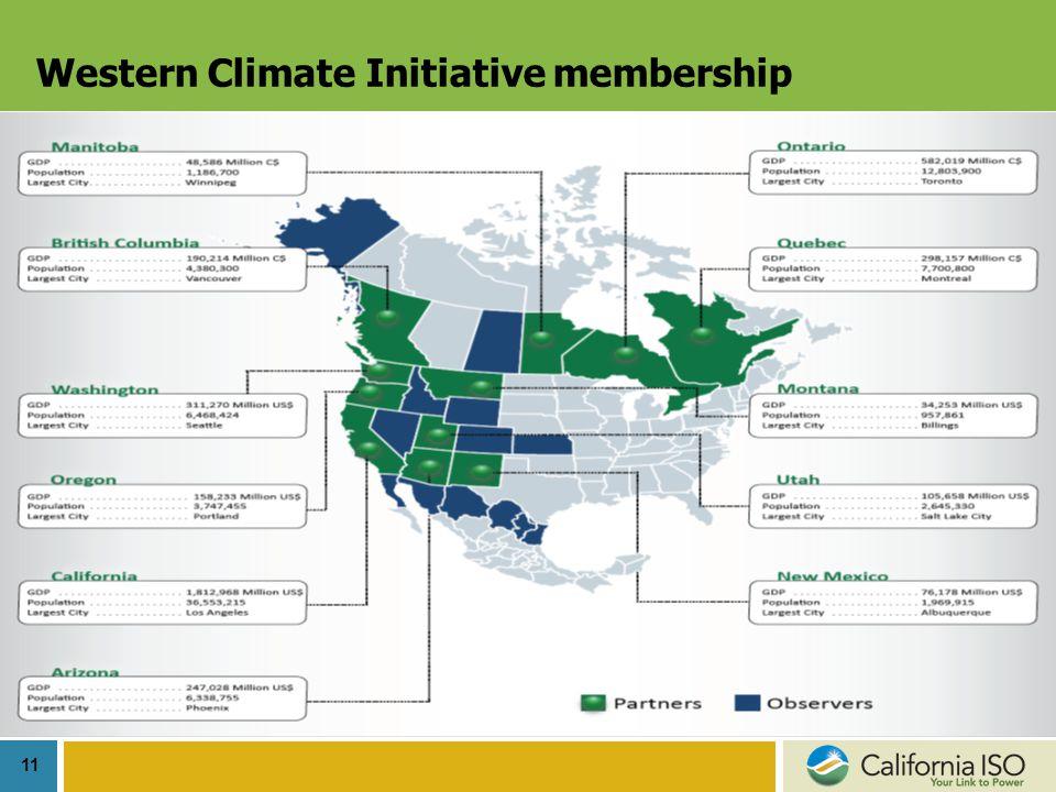 11 Western Climate Initiative membership