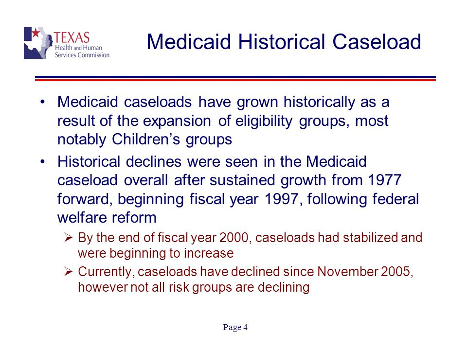 Page 5 Medicaid Historical Caseload