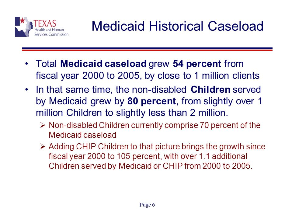 Page 7 Medicaid Historical Caseload