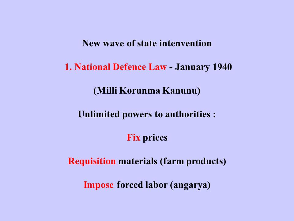 New wave of state intenvention 1.