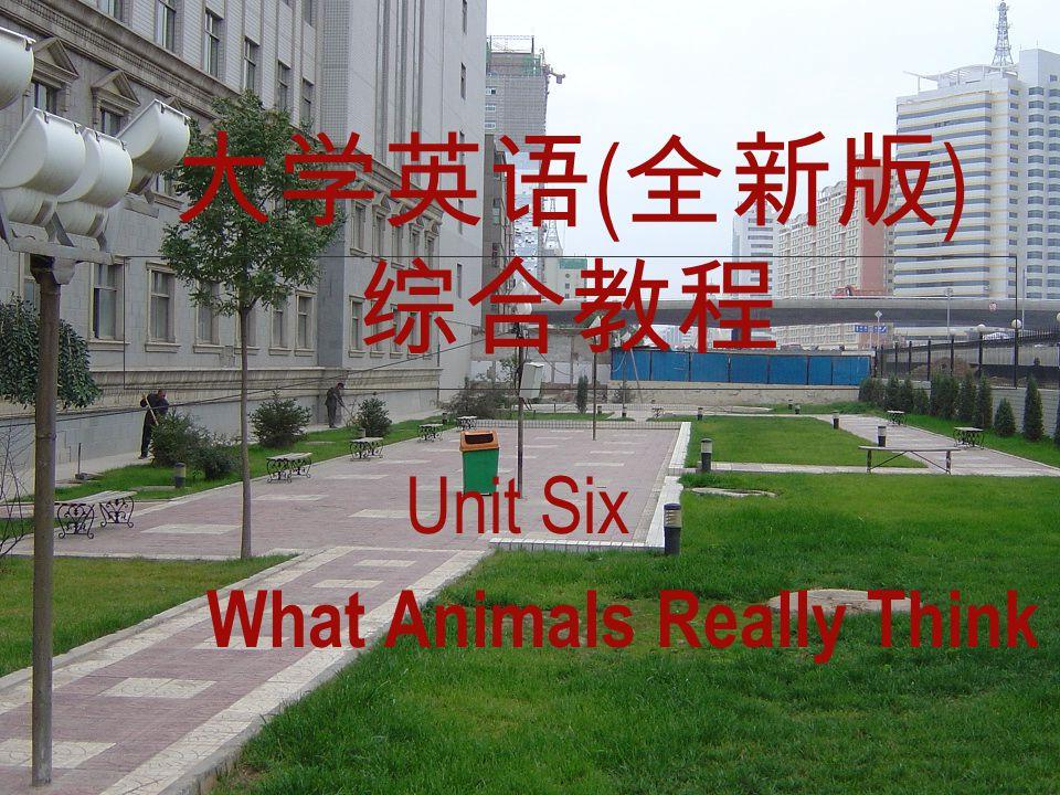 大学英语 ( 全新版 ) 综合教程 Unit Six What Animals Really Think
