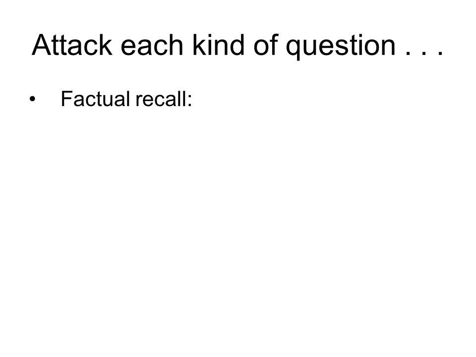 Factual recall: