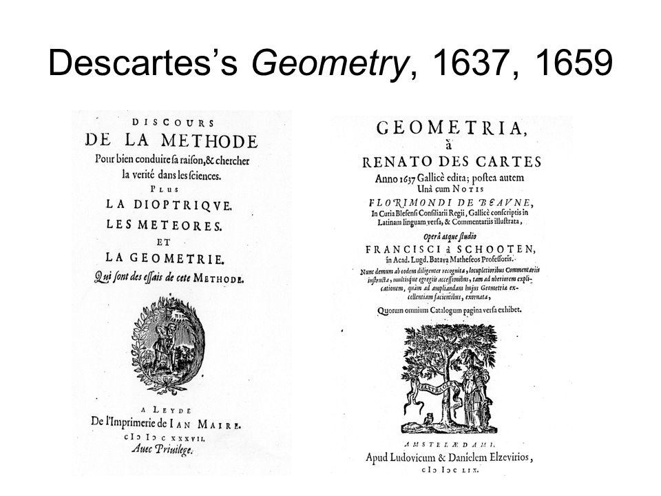 Descartes's Geometry, 1637, 1659